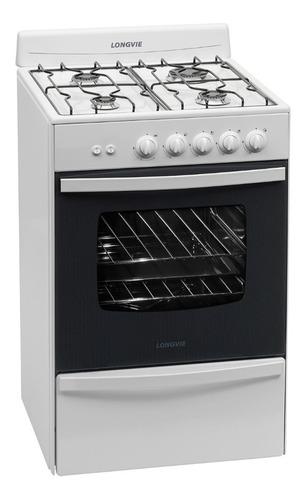 cocina a gas longvie 13331bf 56cm blan c.parrilla ahora12/18