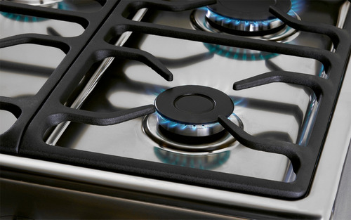 cocina a gas longvie 18500xf 56cm inox tapa de vidrio