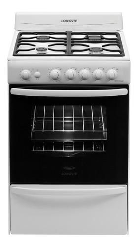 cocina a gas longvie 18501bf 56cm blanca encendido una mano