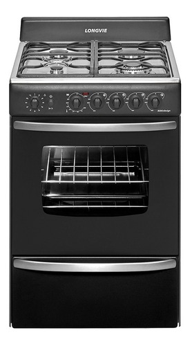cocina a gas longvie 19501g 56cm grafito encendido una mano