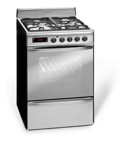 cocina a gas longvie 21501x 56cm inox grill eléctrico