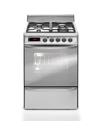 cocina a gas longvie 21601x 60cm inox grill eléctrico