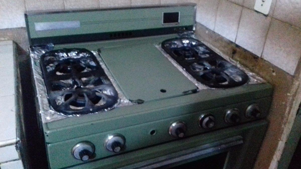 Cocina A Gas Madosa 4 Hornillas Con Plancha Y Horno Bs