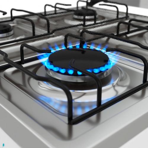cocina a gas nuevas supergas 4 hornallas mesada inox ebz