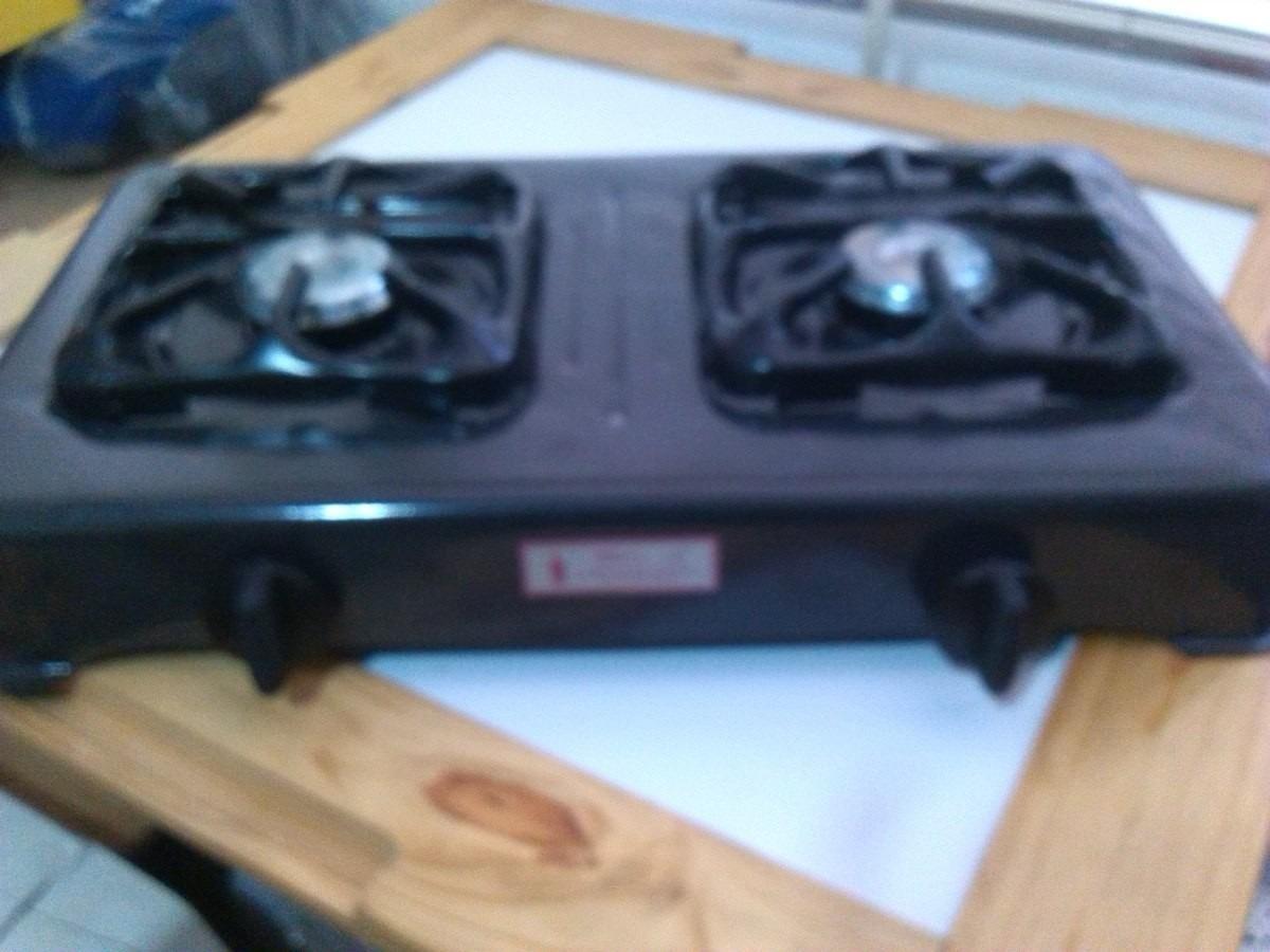 Cocina a gas portatil 2 hornillas pionera bs - Cocina portatil gas ...