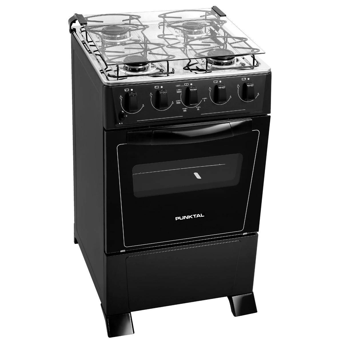Cocina a gas punktal pk375c 4 hornallas mesa acero inox for Cocinas a gas precios