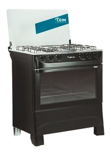 cocina a gas tem mastercook 5 hornallas color negro mi casa