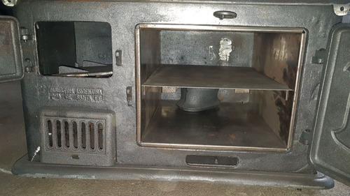 cocina a leña  carelli n°1b horno de fundicion herrajes-hem