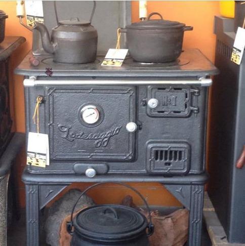 Cocina a leña loderaggio diseño retro horno inoxidable    17.990 ...