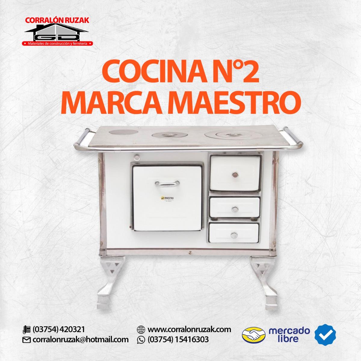 Cocina A Leña Maestro Nº2 - Nueva - Hierro Fundido - 30 Lts ...