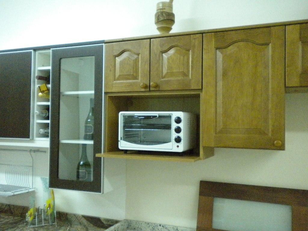 Mueble de cocina bajo mesada alacena madrid amoblamientos for Cocinas enchapadas