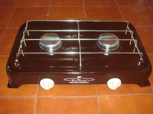 cocina anafe de dos hornallas nuevas gas envasado (garrafa)