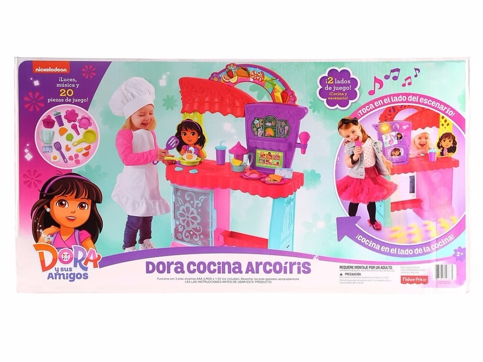 Cocina arcoiris dora and friends fisher price 2 en 1 - Cocina dora la exploradora fisher price ...
