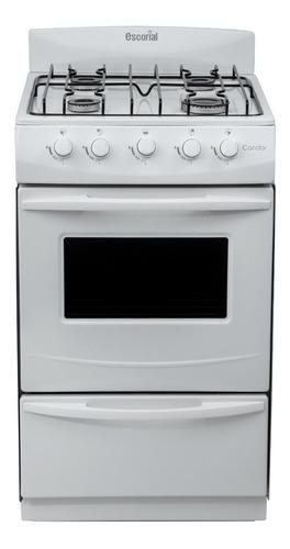 cocina blanca 4 hornallas visor y parilla