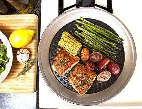 cocina casera superior de la estufa sin humo de la parrilla