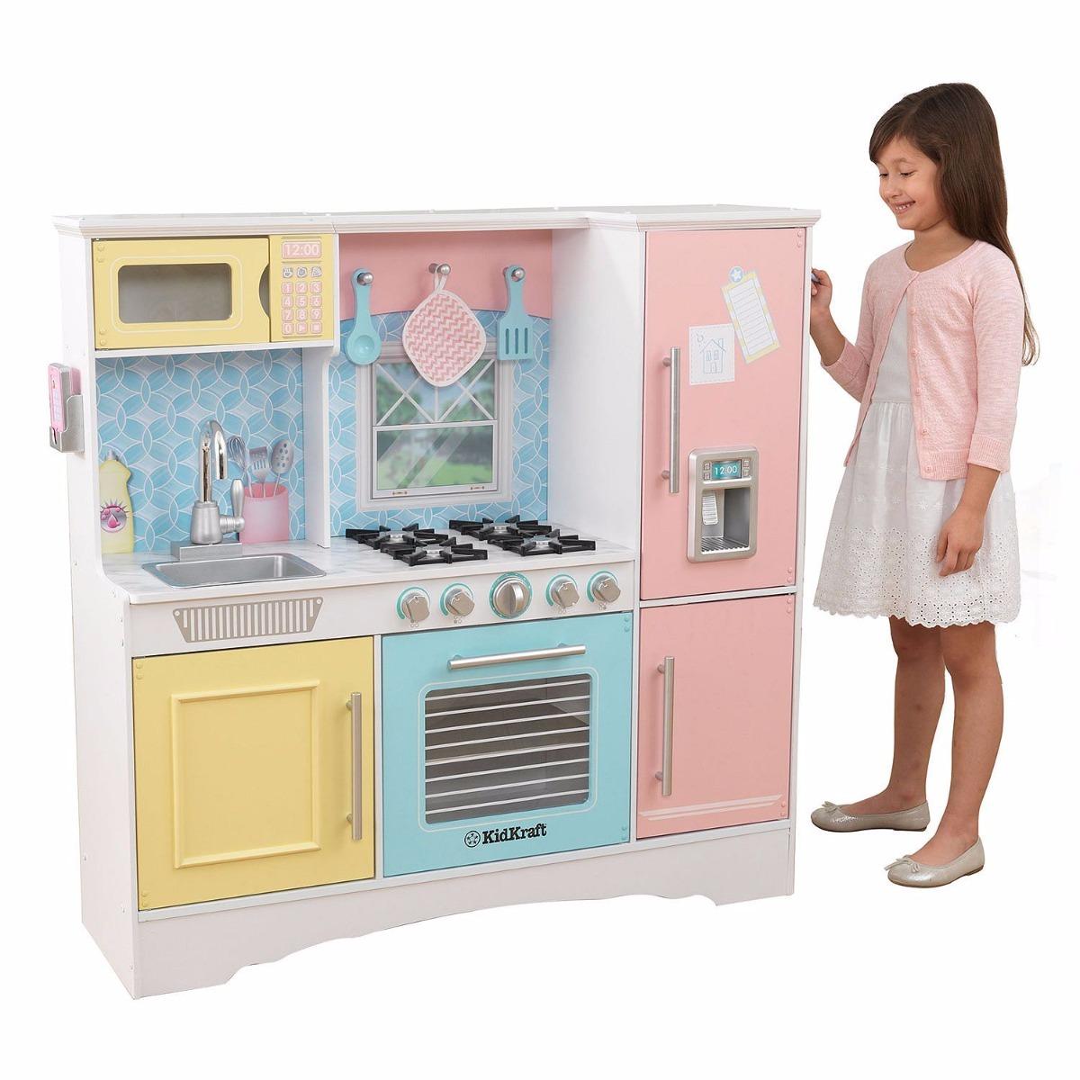 Cocina cl sica de juego para ni as con accesorios kidkraft - Cocinas de ninas ...