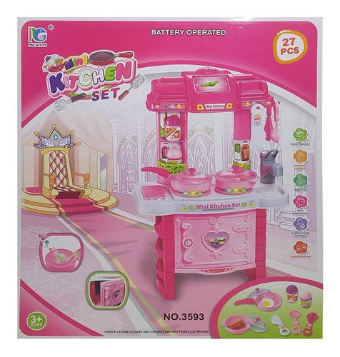 cocina cocinita completa juguete con accesorios juego luz y