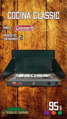 cocina coleman clasic nueva camping (105) con bonbona