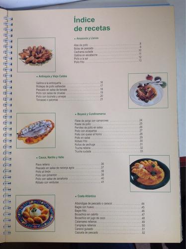 cocina colombiana. aves, pescados y mariscos
