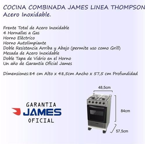 cocina combinada james inoxidable línea thompson