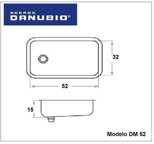 cocina combo bacha simple danubio dm52 griferia dique monoco