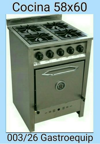 cocina compacta de 4 hornallas gastroequip