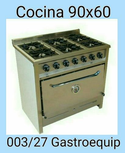 cocina compacta de 6 hornallas gastroequip