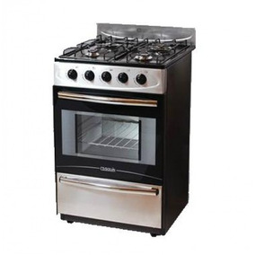 Cocina Cosquin Mod. 2650n Negra Y Acero Inox.