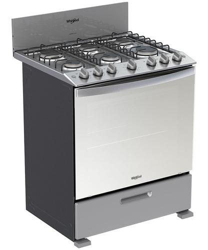 cocina de gas 6 quemadores whirlpool acero inoxidable