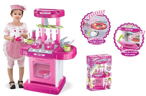 cocina de juguete chica con luces y música