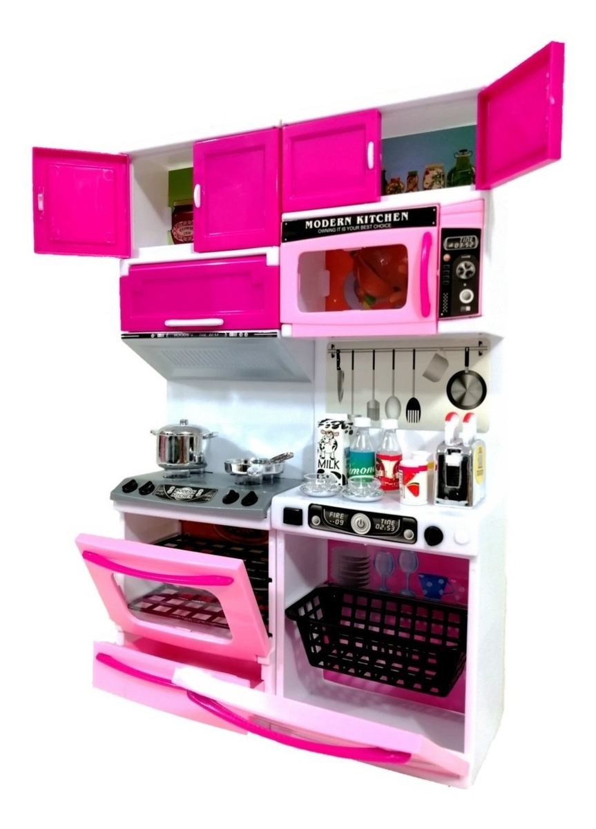 Cocina De Juguete Cocinita Para Muñecas Tipo Barbie Niña ...