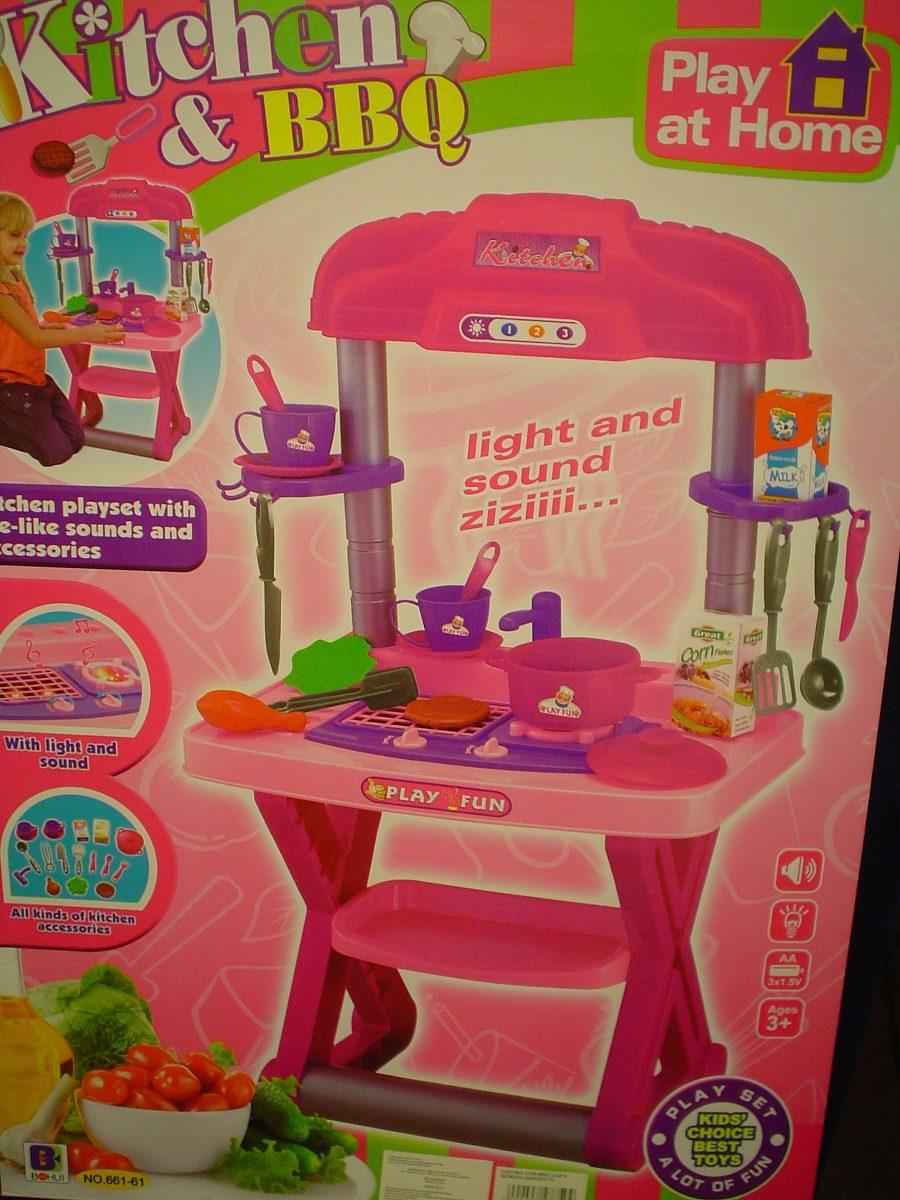 Cocina de juguete con bbq s 105 00 en mercado libre - Cocina de juguete ...
