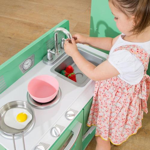 cocina de juguete hogareña de 2 piezas de madera kidkraft