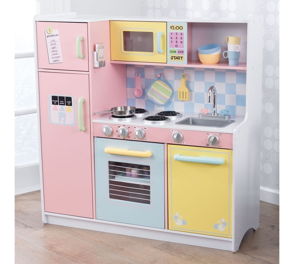 Cocina De Juguete Infantil Kidkraft De Madera Color Pastel ...