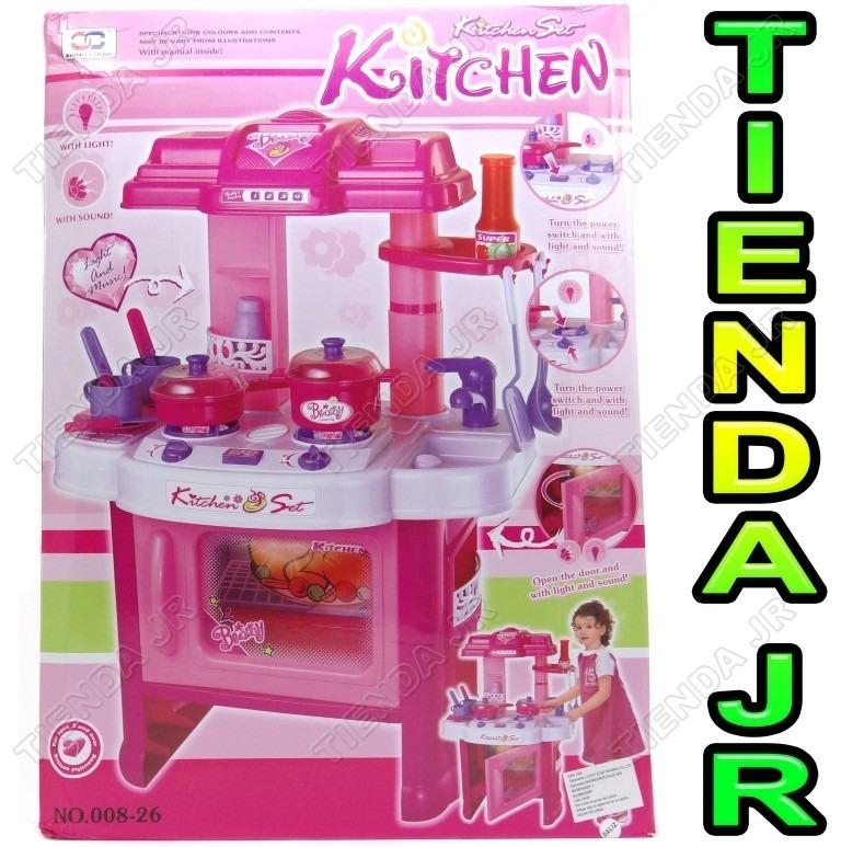 Cocina de juguete para ni as con horno luces sonidos 74 cm for Cocina de juguete step 2