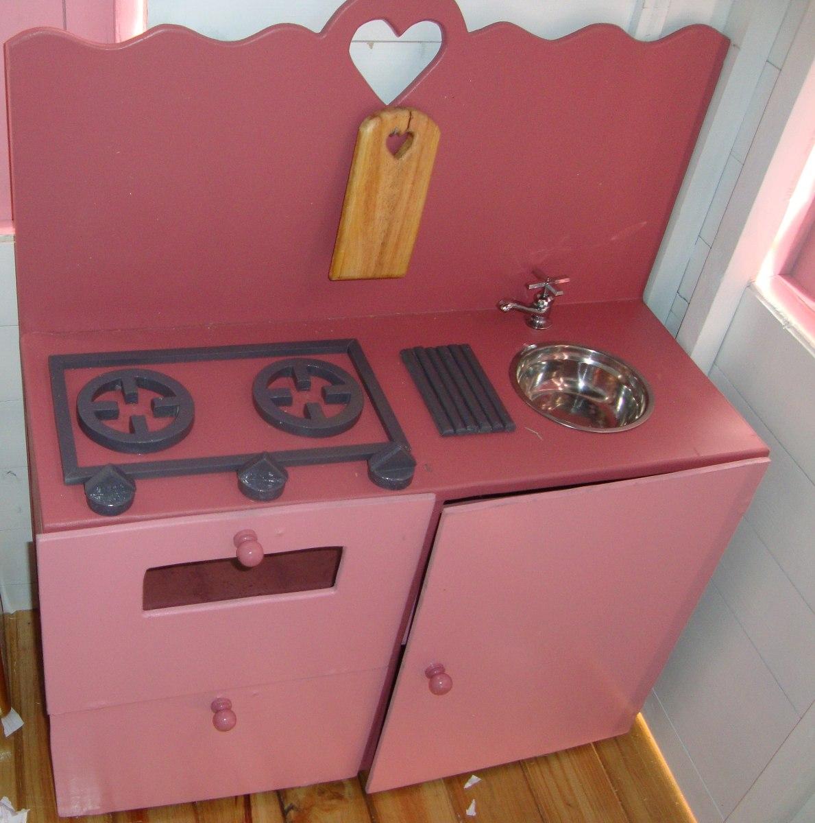 Cocina de juguete para ni os en madera bs en for Cocina infantil madera
