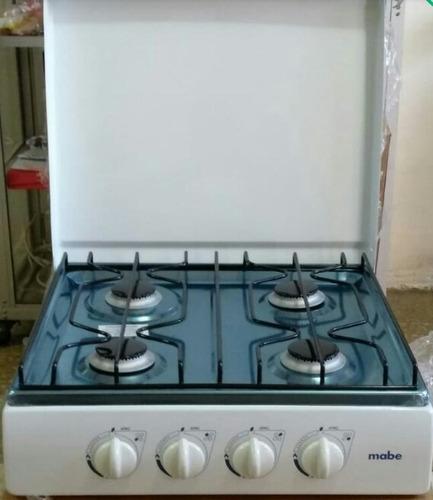 cocina de mesa o cocineta mabe,cubierta acero inox, a gas$50