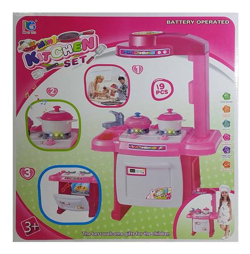 cocina de pie juguete luz y sonido 9 piezas cocina con acces