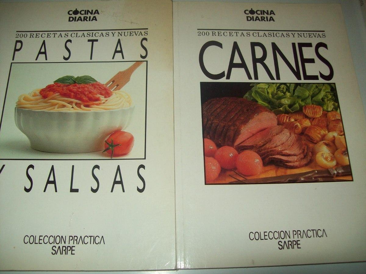 Cocina Diaria 6 Libros Sarpe 200 Recetas Pescados Pollo Más - $ 240 ...