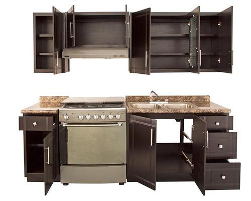cocina ebano 240 cm con 9 puertas pm-3126653