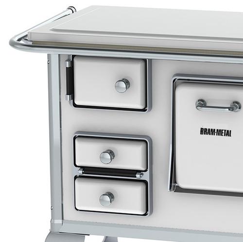 Cocina Economica A Leña Bram Metal Acero Enlozado N°0 Blanca ...