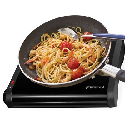 cocina electrica 1 hornilla, black  decker, nueva