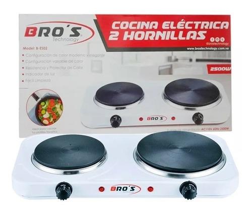cocina electrica 2 hornillas bros technolgy 110v 2500w