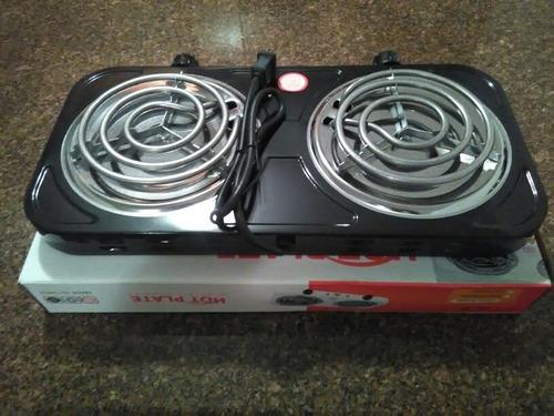 cocina eléctrica 2 hornillas en acero detal 19$ mayor 15$