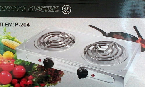 cocina eléctrica 2 hornillas general electric