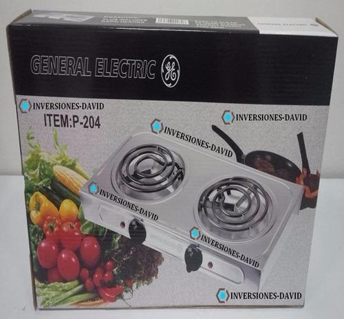 cocina eléctrica 2 hornillas general electric original
