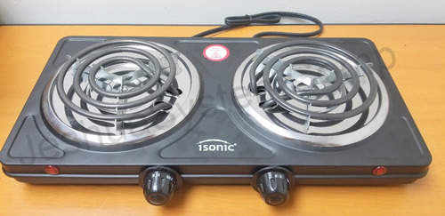 cocina electrica 2 hornillas portatil 2000w isonic nuevo