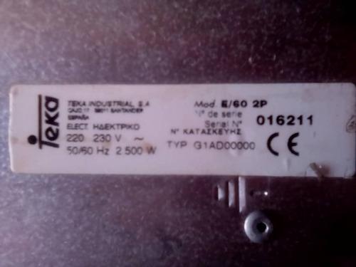 cocina eléctrica 220v de tope marca teka 2 calentadores
