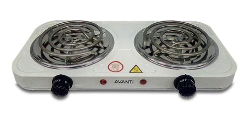 cocina eléctrica avanti br6242 hornillas blanca