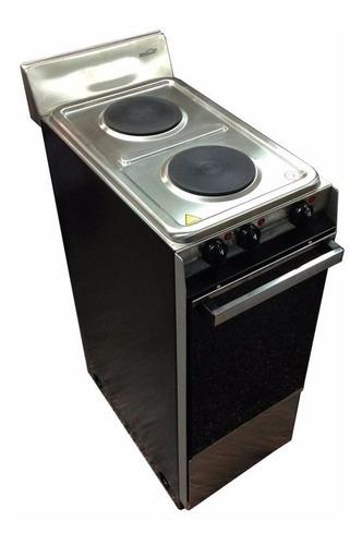 cocina electrica brogas 2 hornallas y horno electrico